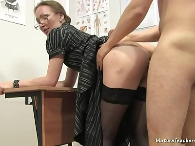 Russian mature teacher 12 - Elena (anathomy lesson)