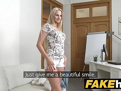 Fake Agent - Blonde Beauty in Casting Couch fuck