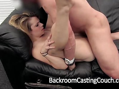 Cheater Assfucked and Creampie on Casting Couch